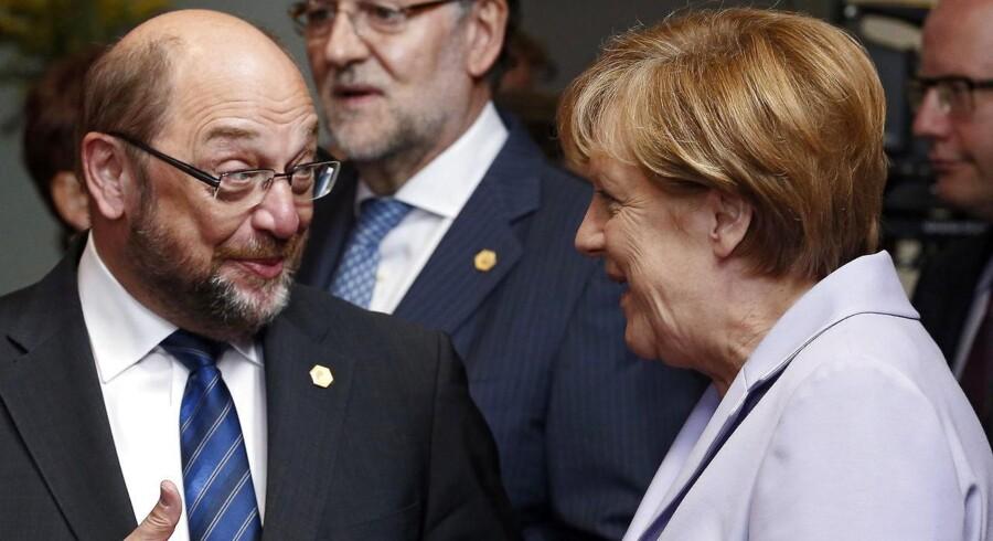 Socialdemokraten Martin Schulz er udset som kanslerkandidat. SPD-formand Gabriel vil samtidig afgive formandsposten til Schulz.