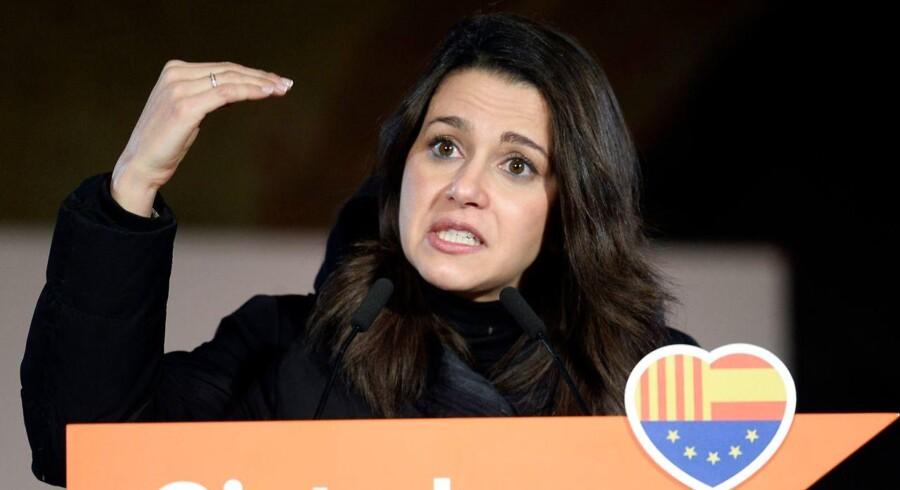 Inés Arrimadas vil i spidsen for partiet Ciudadanos ved torsdagens regionalvalg gøre op med årtiers dominans fra catalanske nationalistpartier i Cataloniens selvstyre. Foto: Josep Lago/AFP
