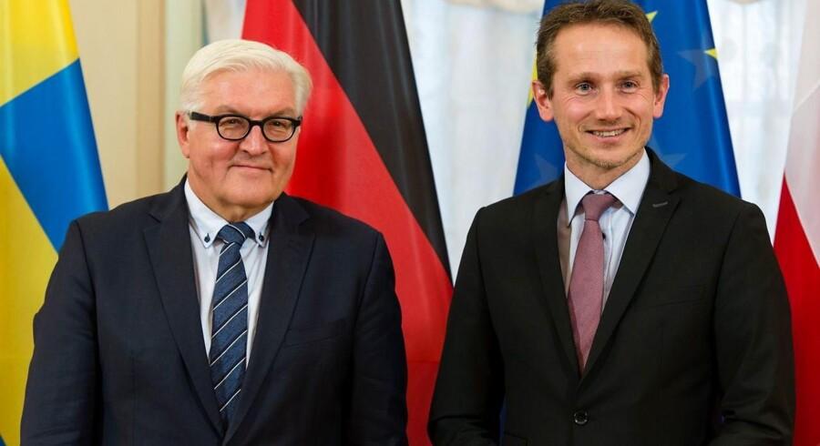 Tirsdag var udenrigsminister Kristian Jensen med sin tyske kollega Frank-Walter Steinmeier i Berlin.
