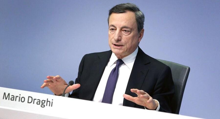 Det bliver sandsynligvis først til juli, at chefen for Den Eruopæiske Centralbank, Mario Draghi, annoncerer datoen for afslutningen af opkøbsprogrammet.