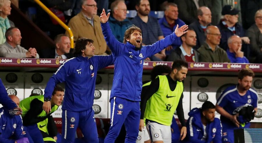 Chelseas manager Antonio Conte under Premier League-kampen mellem Burnley og Chelsea d. 19. april 2018.