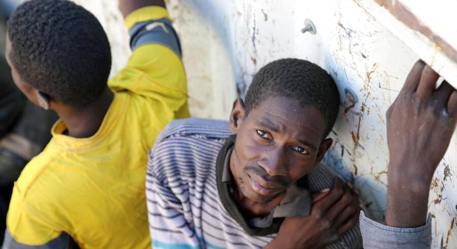 Efter kampe mellem forskellige militser for nylig i den libyske havneby, Sabratha, fik omverdenen kendskab til nogle ellers hemmelige fangelejre for migranter og flygtninge REUTERS/Hani Amara