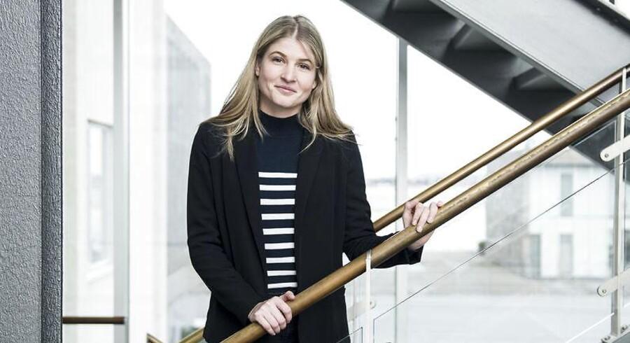 Christina Krzyrosiak Hansen ved Holbæk Rådhus, tirsdag den 28. november 2017. Christina Krzyrosiak Hansen er 24 år og Danmarks yngste borgmester.