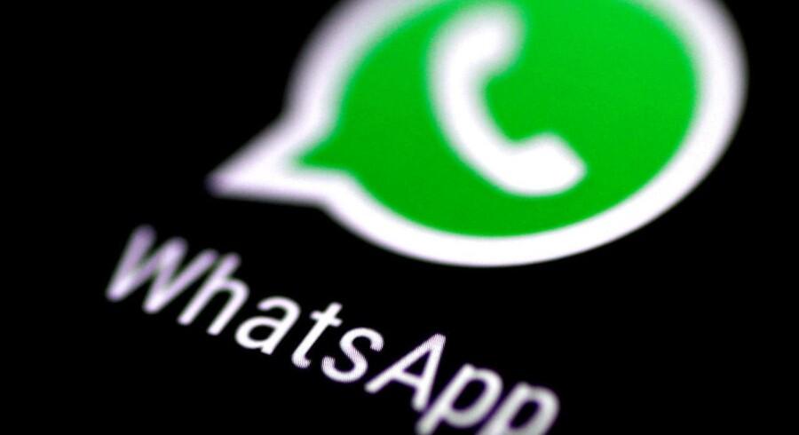 WhatsApp, som ejes af Facebook, har skrevet under på alligevel ikke at ville dele brugernes personlige oplysninger med selve Facebook og dermed køre data sammen. Arkivfoto: Thomas White, Reuters/Scanpix
