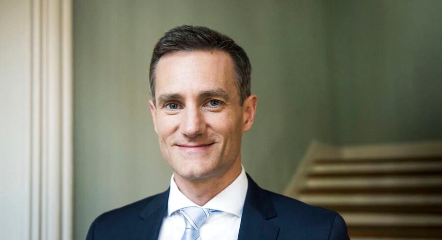 Erhvervsminister Rasmus Jarlov (K) har tidligere kaldt Danske Banks hvidvask-sag for en »skamplet«.