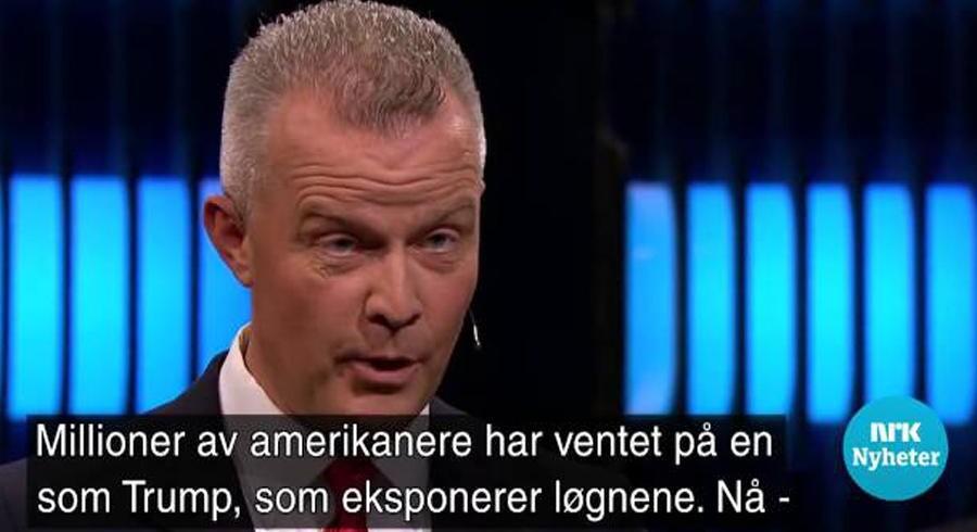 Screenshot fra NRK Nyheter.