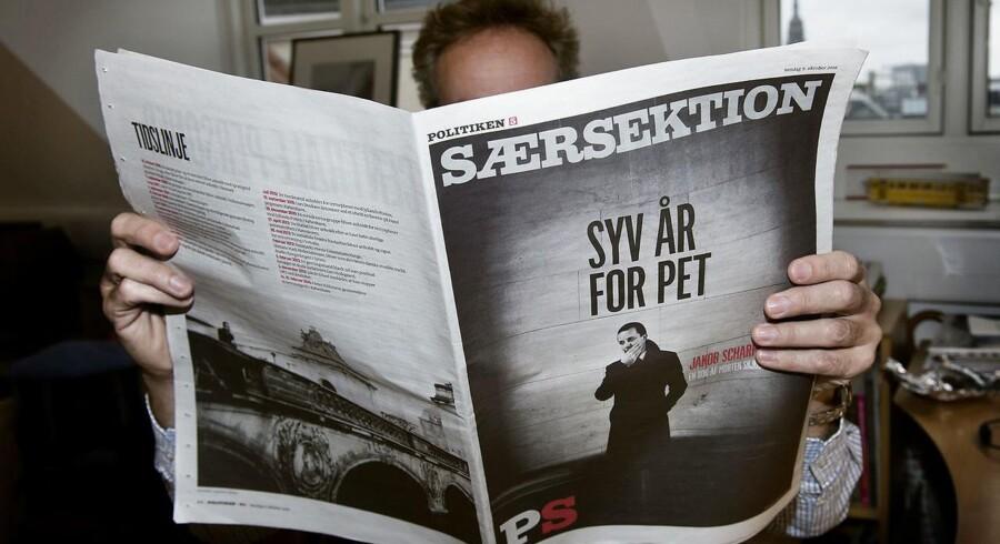 Dagbladet Politiken valgte søndag den 9.10.2016 at trykke bogen Syv År Med PET trods fogedforbud.. (Foto: Liselotte Sabroe/Scanpix 2016)