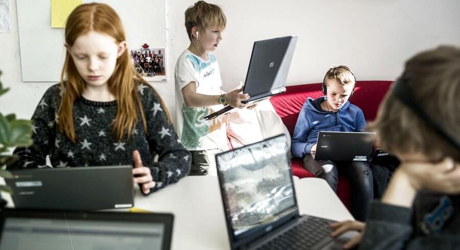 4.kviums elever på Ørestad Skole er ved at tage digitalt kørekort