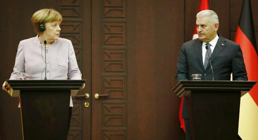 Angela Merkel og Recep Tayyip Erdogan 02. februar 2017.