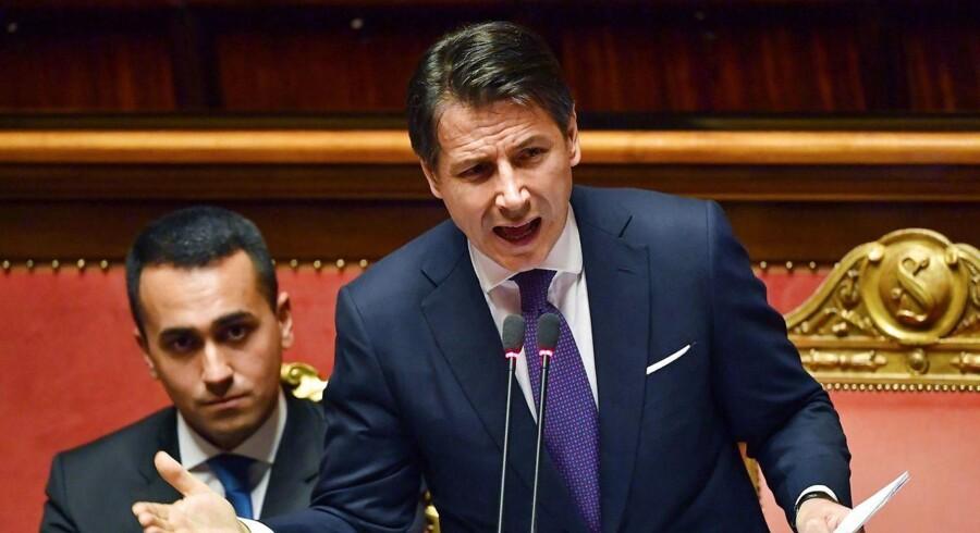 Den nye italienske premierminister, Giuseppe Conte, holdt tirsdag en tale, hvor han gentog sin plan om skattelettelser og større velfærdsudgifter.
