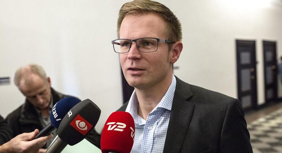 Benny Engelbrecht, Socialdemokratiet, da der tirsdag i Finansministeriet var forhandlinger om Helhedsplanen – tryghed for boligejerne. (Ivan Riordan Boll/POLFOTO)