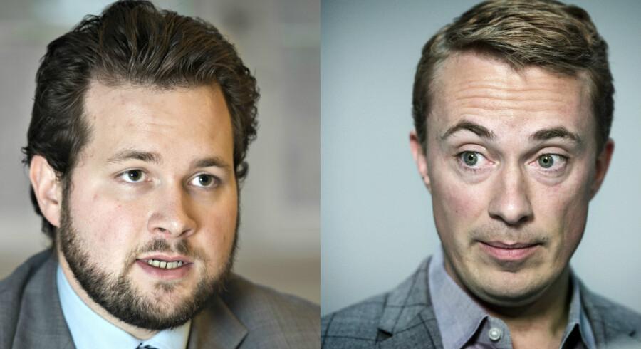Dansk Folkepartis europaparlamentarikere Anders Vistisen og Morten Messerschmidt.
