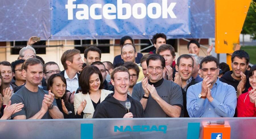 Arkivfoto: Da Zuckerberg tog Facebook på børsen i 2012.