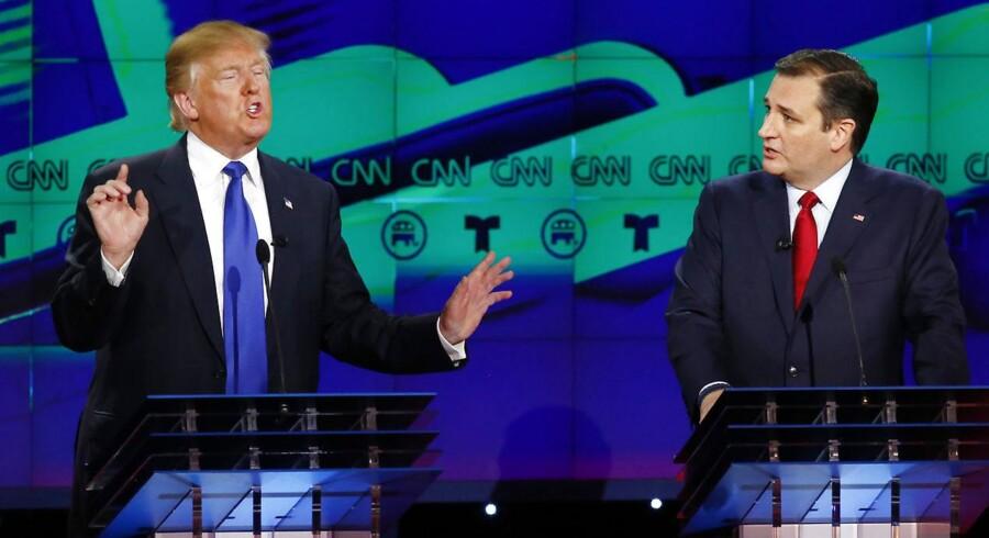 Siden primærvalgkampen begyndte 1. februar, har 14 stater stemt, Trump har vundet ti af dem og Cruz har vundet tre. Efter i nat står Trump til at have vundet tæt på 350 delegerede og Cruz små 200 ud af de godt 700 udloddede delegerede.
