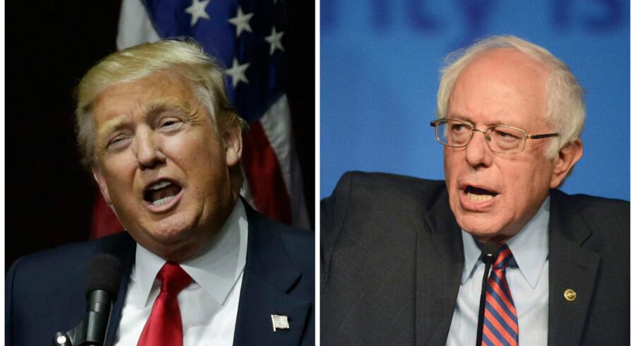 Donald Trump og Bernie Sanders er ikke enige om meget. Men én ting kan de enes om.