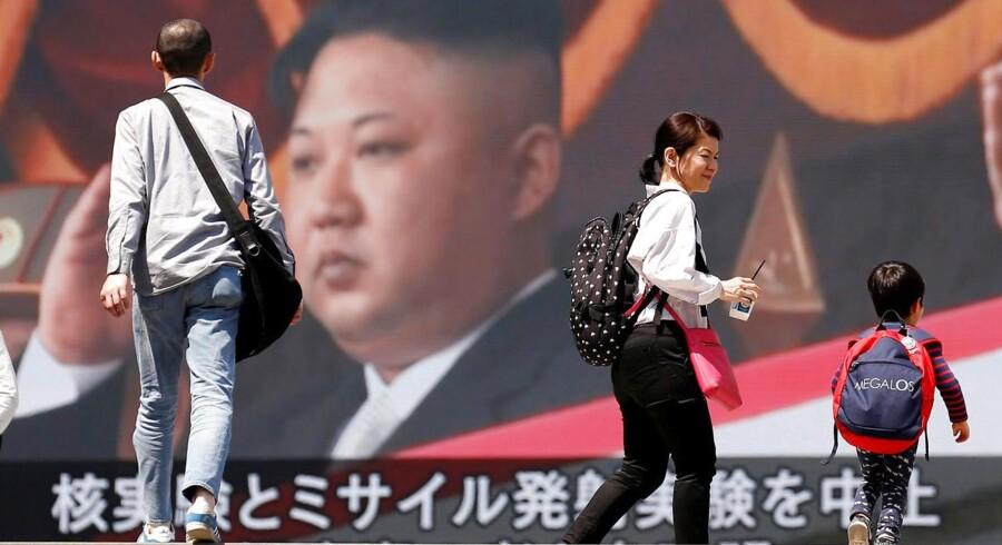 """Arkivfoto: Nordkorea kalder de fælles militærøvelser mellem USA og Sydkorea for """"en provokation"""", skriver Nordkoreas Centrale Nyhedsbureau (KCNA). (Foto: TORU HANAI/Ritzau Scanpix)"""
