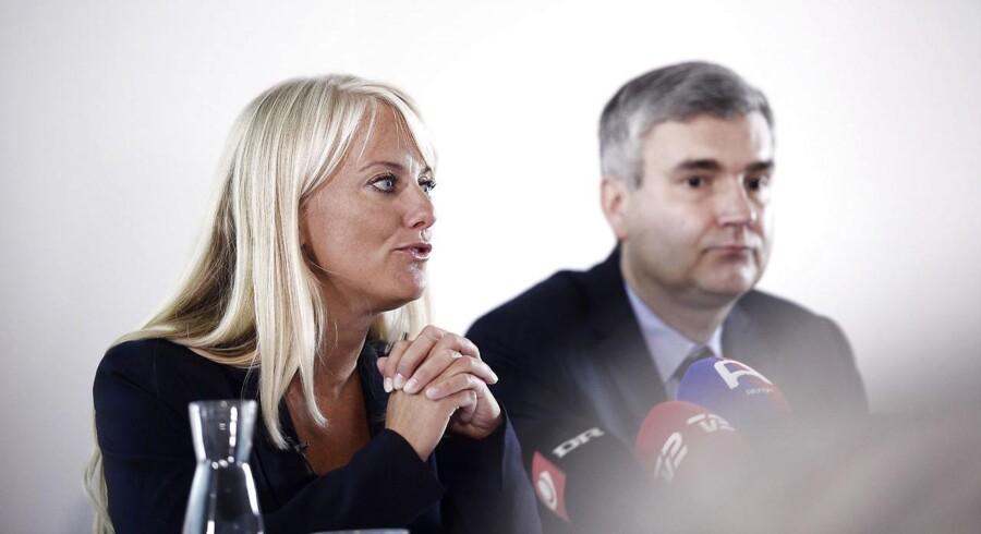 ARKIVFOTO: Formand for Nye Borgerlige, Pernille Vermund, og næstformand Peter Seier Christensen