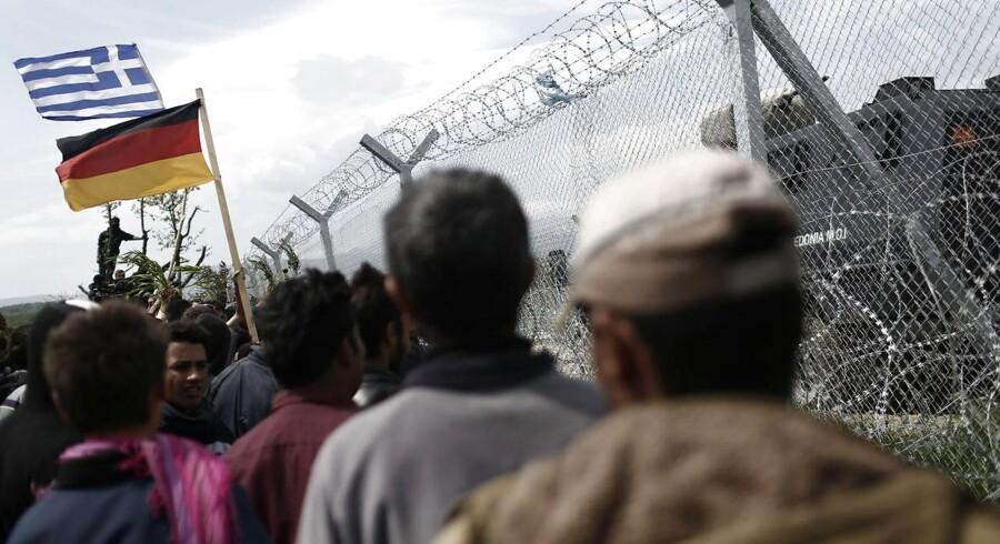 Flygtninge ved Balkan-ruten.