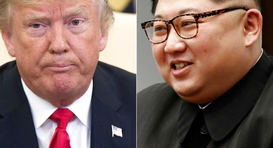 Forholdet mellem USAs præsident Donald Trump og Nordkoreas Kim Jung Un er på frysepunktet