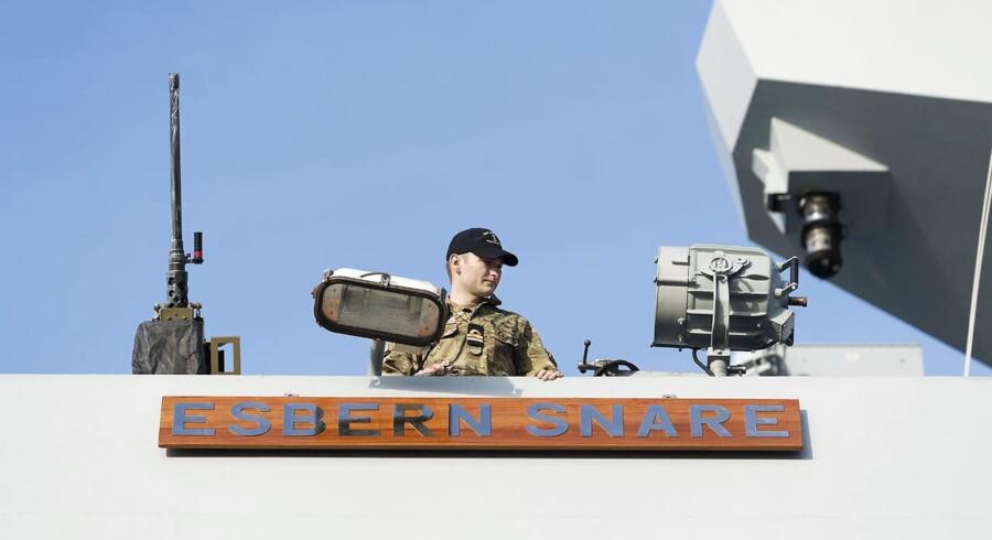 Esbern Snare, der fornylig sejlede til Estland med infanterikampkøretøjer og danske soldater.