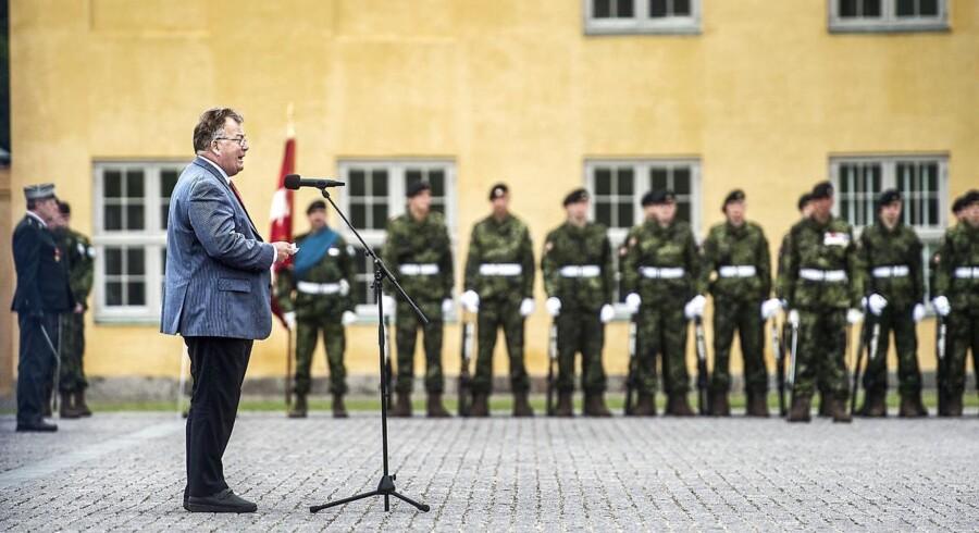 Venstre-veteranen Claus Hjort Frederiksen har kastet al sin kapital ind på at styrke forsvaret. Her ses forsvarsministeren på Kastellet til medaljeoverrækkelse og mindehøjtidlighed og for veteraner.