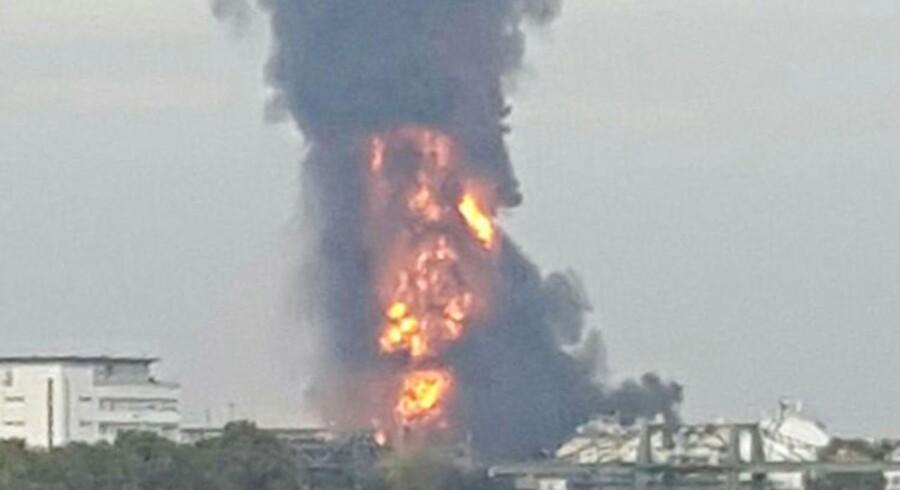 Eksplosionen er sket på BASFs enorme fabrik nær Ludwigshafen.