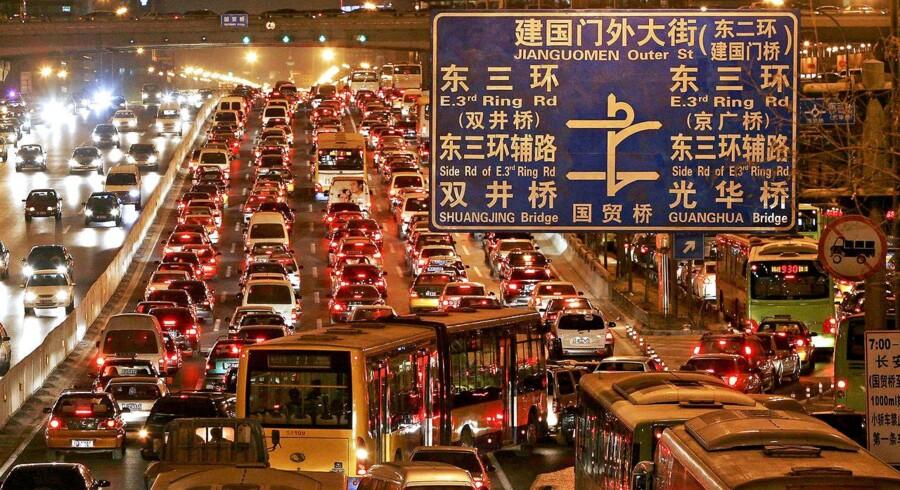 Motorvej ved Beijing.