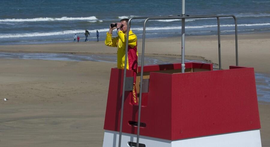 Der står 35 livreddertårne med kystlivreddere fra TrygFonden rundt omkring i landet. Scanpix/Henning Bagger / Arkivfoto