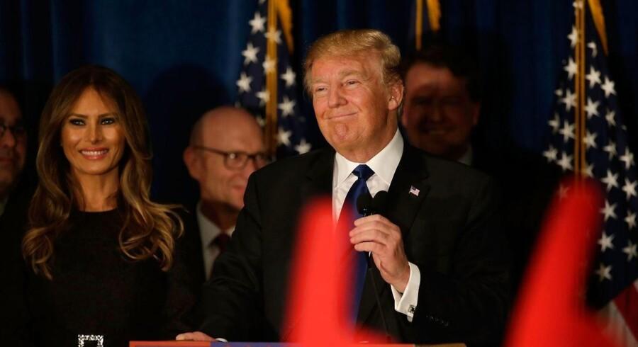 Det blev Donald Trump (billedet) og Bernie Sanders, der blev sejrherrerne i New Hampshire.