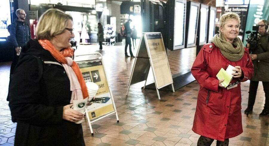 (ARKIV) LO-formand Lizette Risgaard og FTF-formand Bente Sorgenfrey (Foto: Ólafur Steinar Gestsson/Scanpix 2018)
