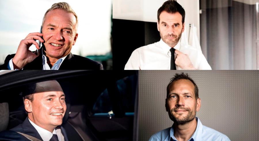 Vi dyrker iværksættere som rockstars, der skal redde den hensygnende velfærdsstat og gøre op med en nations hængekøjementalitet. Men i en ukritisk jagt på de næste væksthåb risikerer vi at skabe en ny boble, lyder advarslen. Succesfulde iværksættere: Øverst Lars Tvede og Jesper Buch, nederst Tommy Ahlers og Martin Thorborg.