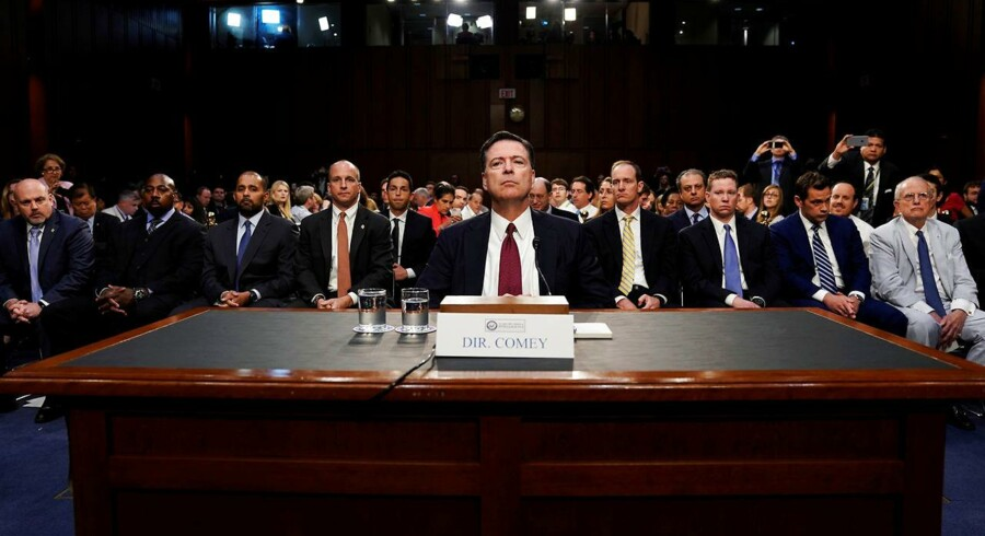 Tidligere FBI-direktør James Comey, fotograferet før Kongressen høring, der skal undersøge Ruslands indblanding i det amerikanske præsidentvalg