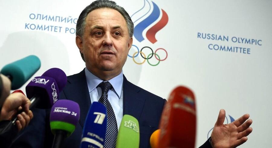 Den russiske sportsminister, Vitaly Mutko.