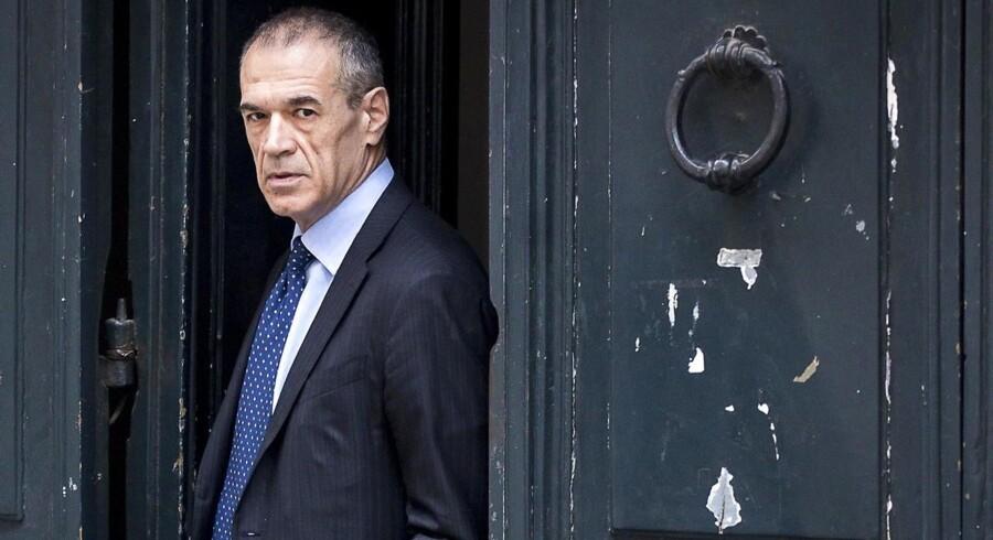 Økonomen Carlo Cottarelli, der er blevet udpeget som leder for en teknokratisk italiensk regering i Italien. Foto: EPA/ANGELO CARCONI