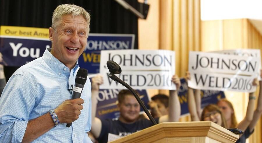 Gary Johnson stiller op til præsidentvalget for Det Libertarianske Parti, og han kan blive et velkendt navn de sidste måneder af valgkampen, hvis det lykkes ham at komme med i de sidste store TV-debatter.