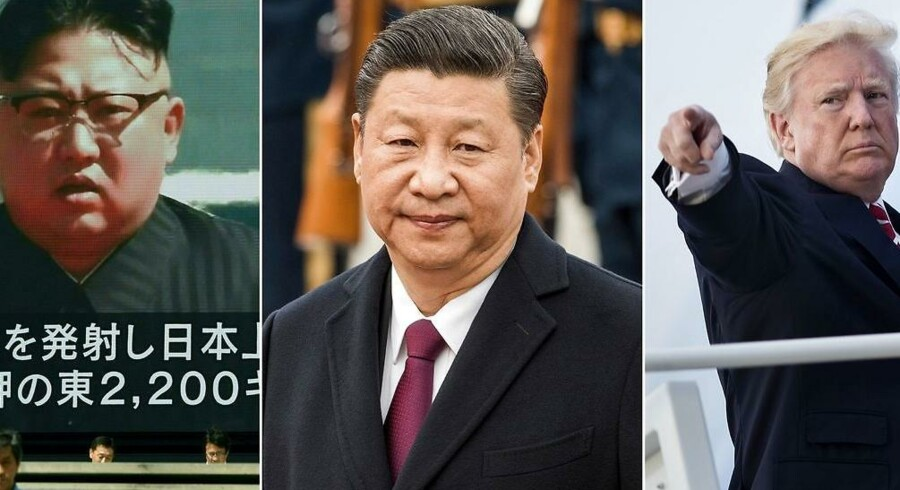 Kinas præsident, Xi jinping, er muligvis mere magtfuld end blandt andre de to herrer, han flankeres af her.