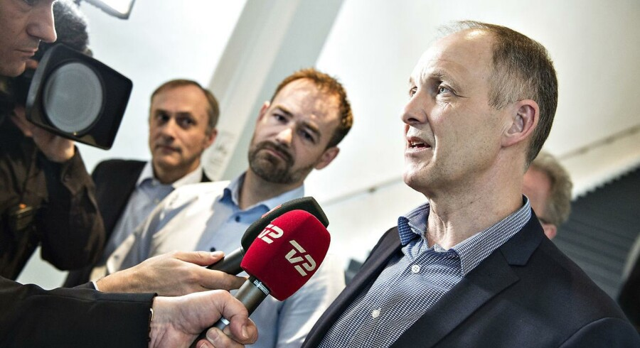 Kommunernes Landsforenings formand Martin Damm, næstformand Jacob Bundsgaard og Michael Ziegler ses efter bestyrelsesmødet om lockout , i Aalborg Kongres og Kulturcenter, onsdag den 7. marts 2018.