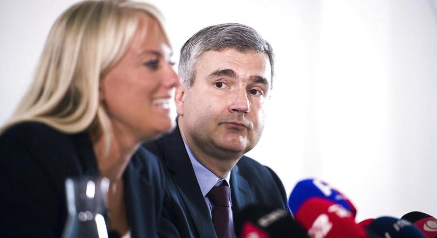 ARKIVFOTO 2016 af formand for de de Nye Borgerlige Pernille Vermund og næstformand Peter Seier Christensen.