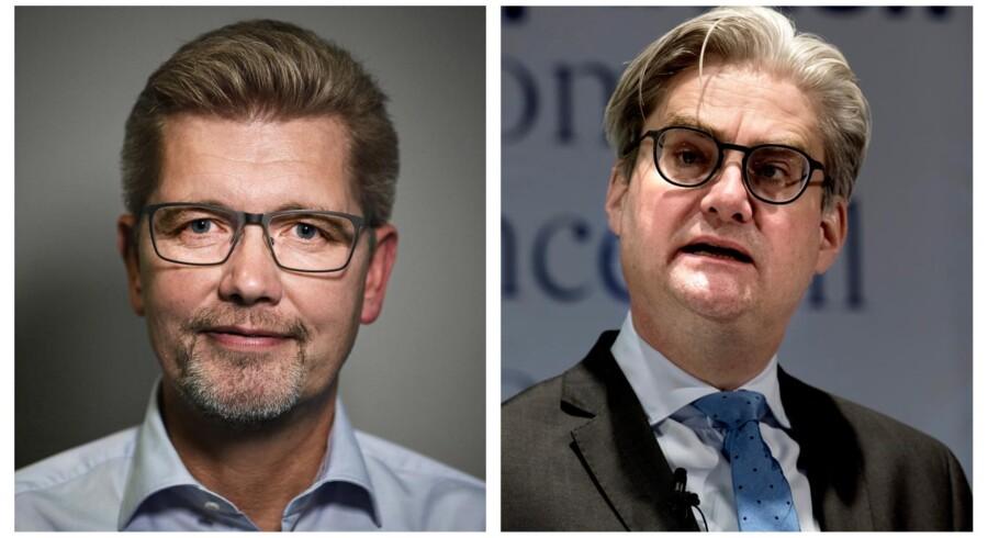 Frank Jensen og Søren Pind. Foto: Niels Ahlmann Olesen/Ritzau Scanpix/Keld Navntoft /