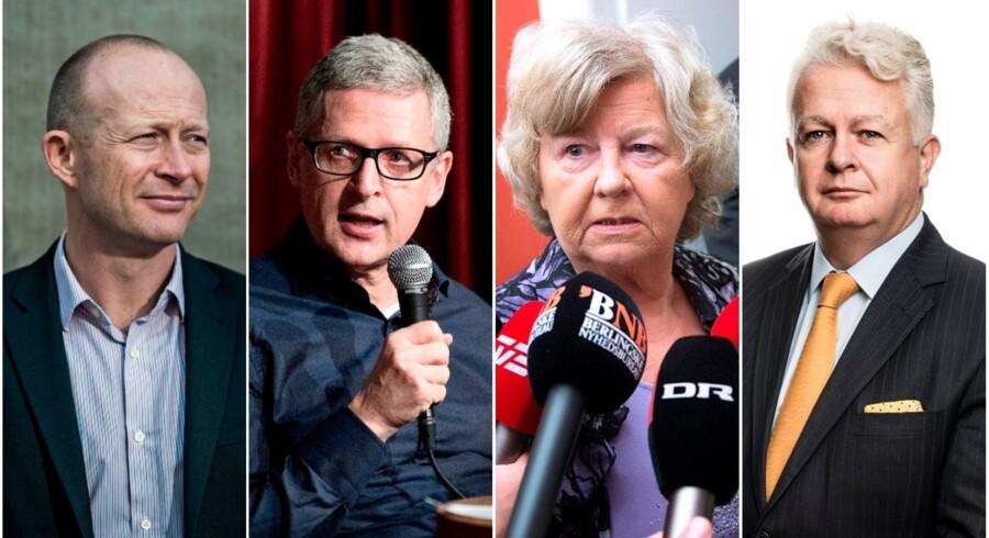 De er ikke enige om alt. Men både Cepos-direktør Martin Ågerup, journalisten og seniorforsker Flemming Rose, fhv. MFer og minister Birthe Rønn Hornbech (V) og professor og debattør Peter Kurrild-Klitgaard mener, at regeringens værdipolitik på flere punkter risikerer at pille ved afgørende principper i det liberale demokrati.