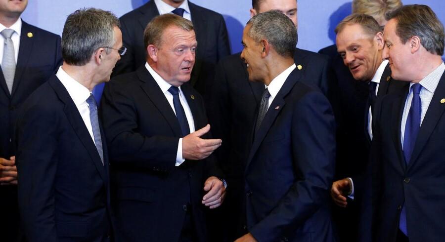 Lars Løkke Rasmussen ved NATO-mødet.