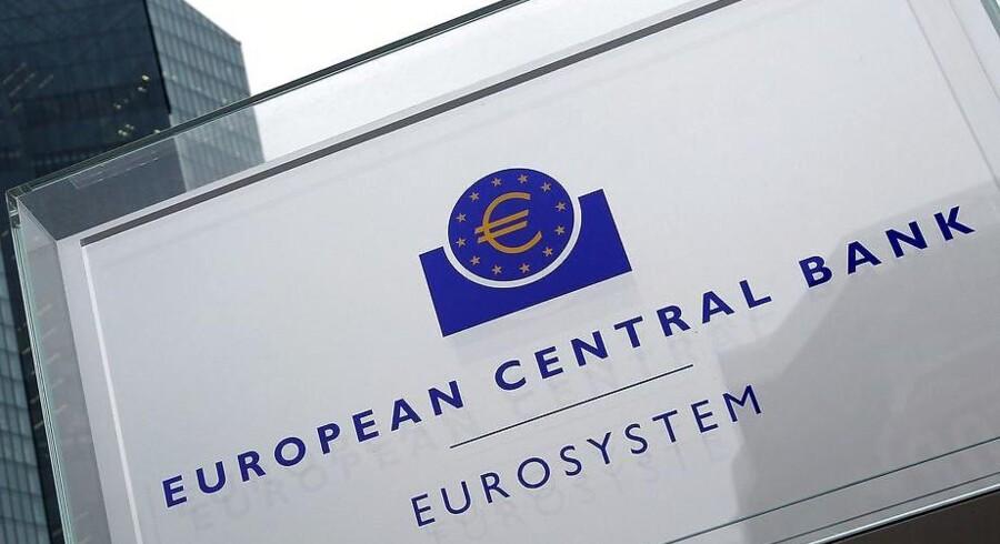 Arkivfoto. Den økonomiske vækst i eurozonen steg med 0,4 pct. i fjerde kvartal i forhold til kvartalet før, hvilket var lidt under økonomernes forventninger, der ifølge Bloomberg lød på 0,5 pct.