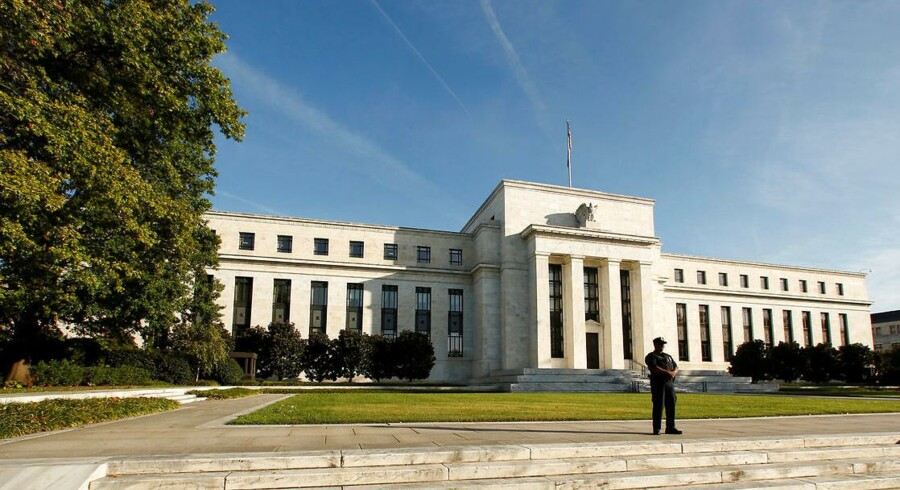 Arkivfoto. U.S. Federal Reserve i Washington, DC.