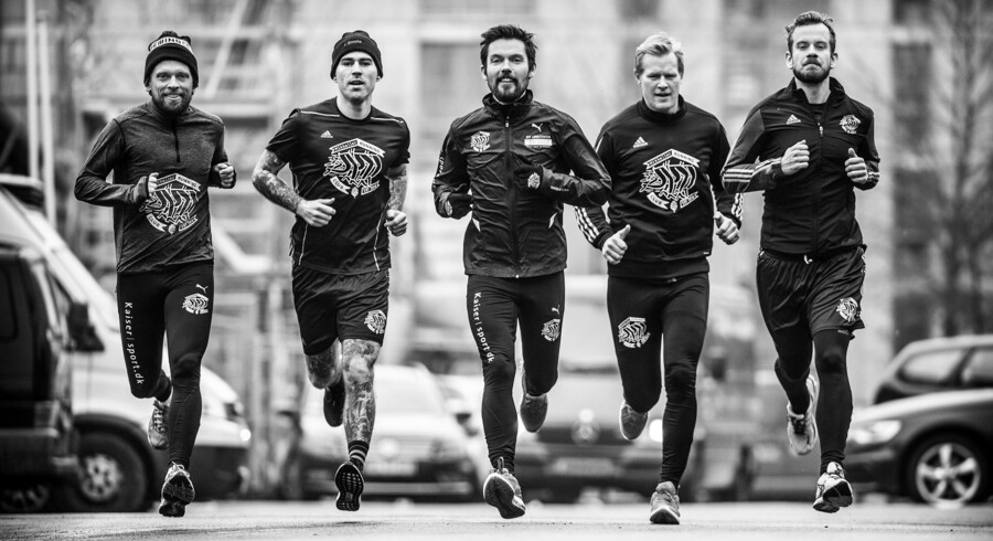 Mikkeller Running Club - Fra venstre:Jacob Alsing, Mixen Lindberg, Søren Runge, Lasse Emil Møller og William Blennow.