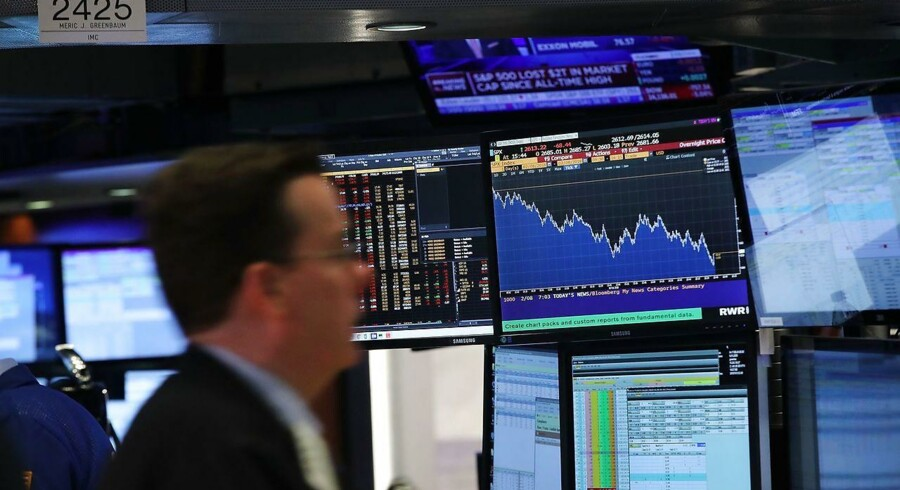 Fornyet frygt for en opblussende handelskrig mellem Kina og USA sendte de store aktieindeks under deres respektive 200-dages glidende gennemsnit (Foto: Spencer Platt/Scanpix)