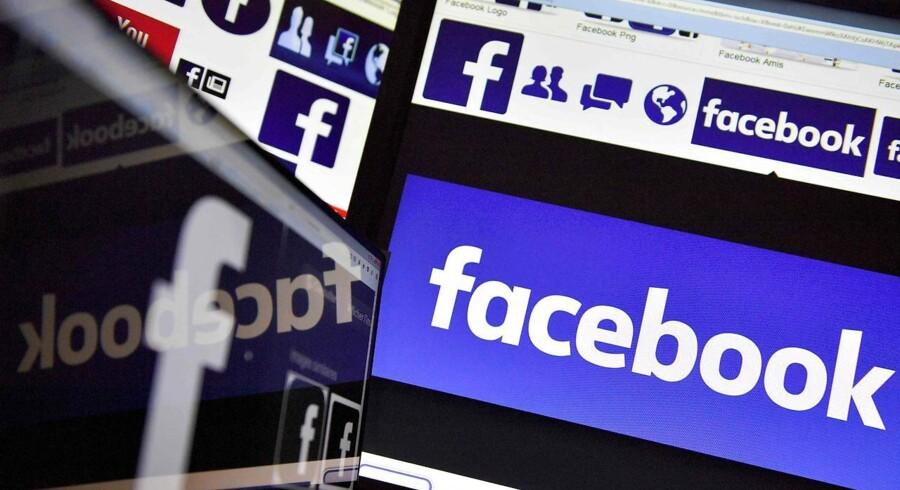 Det børsnoterede, amerikanske selskab Facebook vil åbne eget kontor i Danmark og dermed ikke længere styre al sin aktivitet her fra Stockholm. Arkivfoto: Loic Venance, AFP/Scanpix