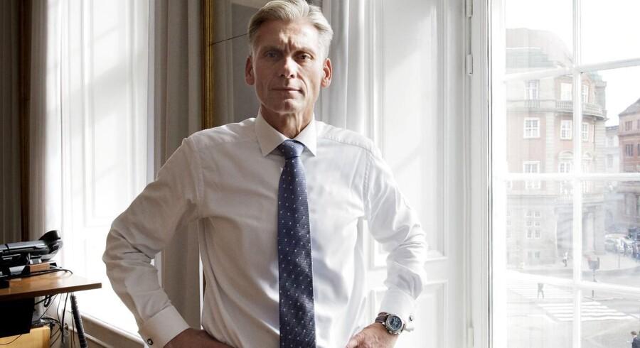 Thomas Borgen, topchef i Danske Bank, kan notere en pæn fremgang i årets første tre kvartaler.