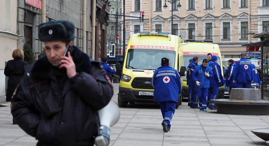 Foto fra dagens eksplosion i Sankt Petersborg.
