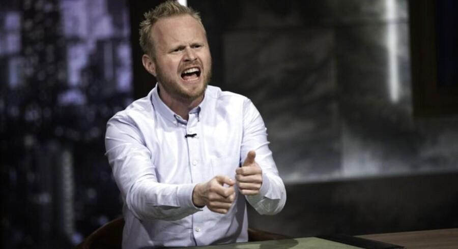 Komiker Jonatan Spang er en af »hovedtalerne« under 1. maj i Fælledparken i København. Foto: Bjarne Bergious Hermansen.