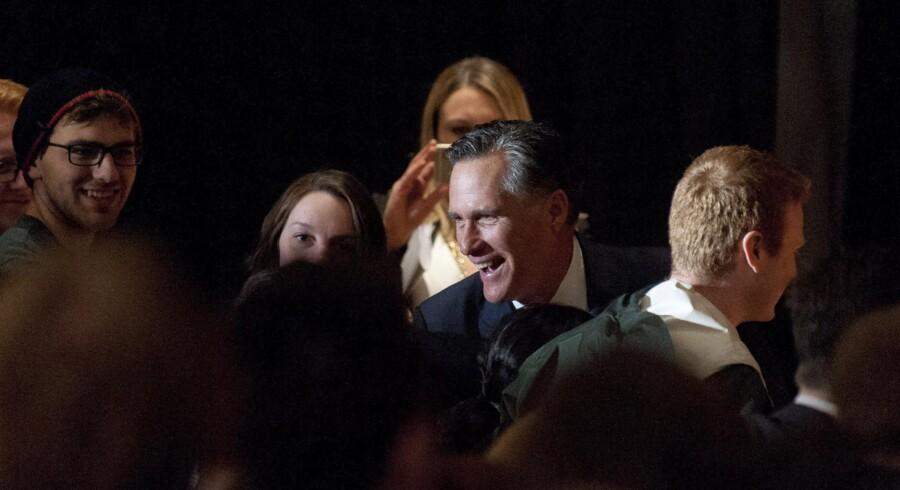 Under en tale på University of Utah advarede Mitt Romney mod Donald Trump. Han sagde, at Trump hverken besad temperamentet eller klogskaben til at indtage landets højeste embede som præsident, og han kaldte Trump »uærlig« og fremhævede, at Trump aldrig kunne vinde. Foto: Ed Kosmicki/AFD